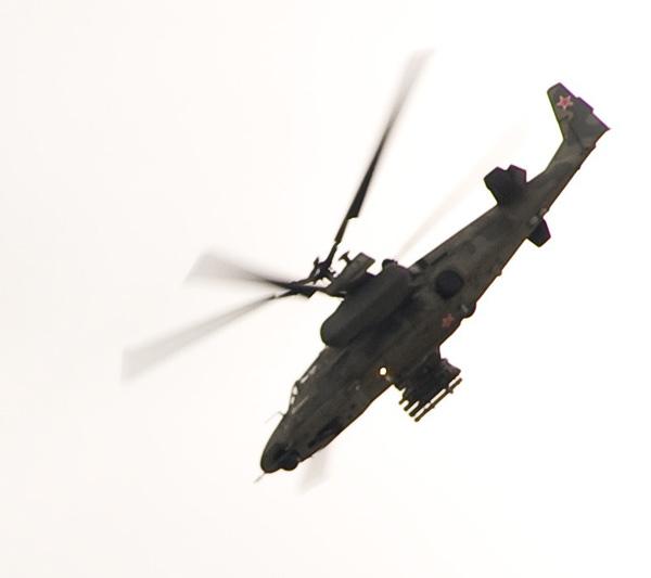 КА-52 аллигатор в полете